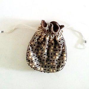 1970's Reversible 'Beaded' Sack Evening Bag